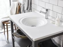 Art tvättställ med Top Solid-yta 908 mm.
