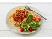 Spagetti med kjøttsaus - grønn