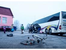 Asylsökande flyttar från ett boende som stängd ned i Skaraborg.
