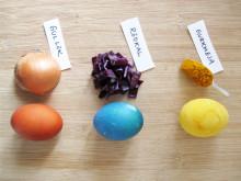 Färga äggen naturligt