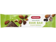 Friggs raw bar med kakao & mandel
