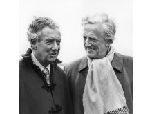 1975 - Britten With Pears at Snape - photo by Victor Parker