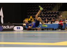 Oliver Åström-Möller under freestyle på VM i hopprep