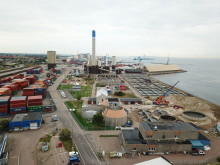 Flygbild över Öresundsverket, augusti 2018