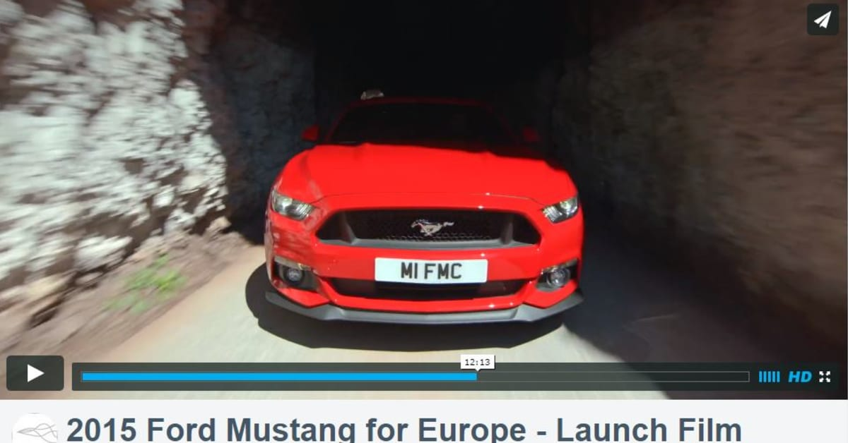 Mustangs Europ Iske Launch Video Ford Motor Company