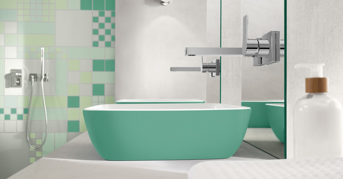 Delicate functionality in colour the new inspiring for Bathroom planner villeroy