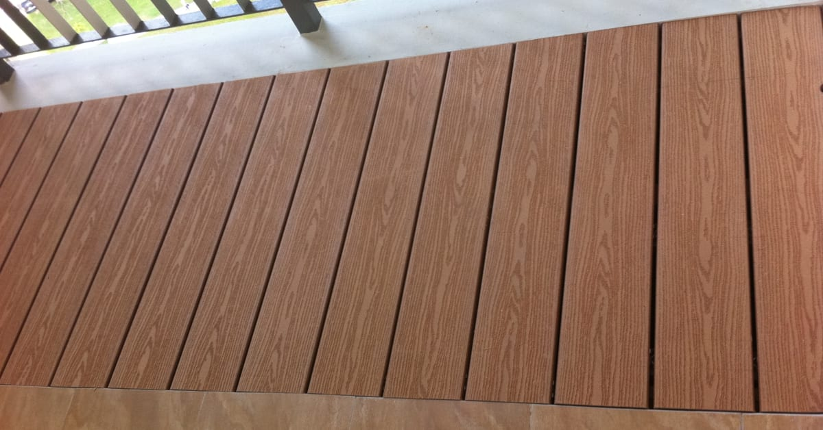 New product launch evorich wpc decking forexia for Wpc decking