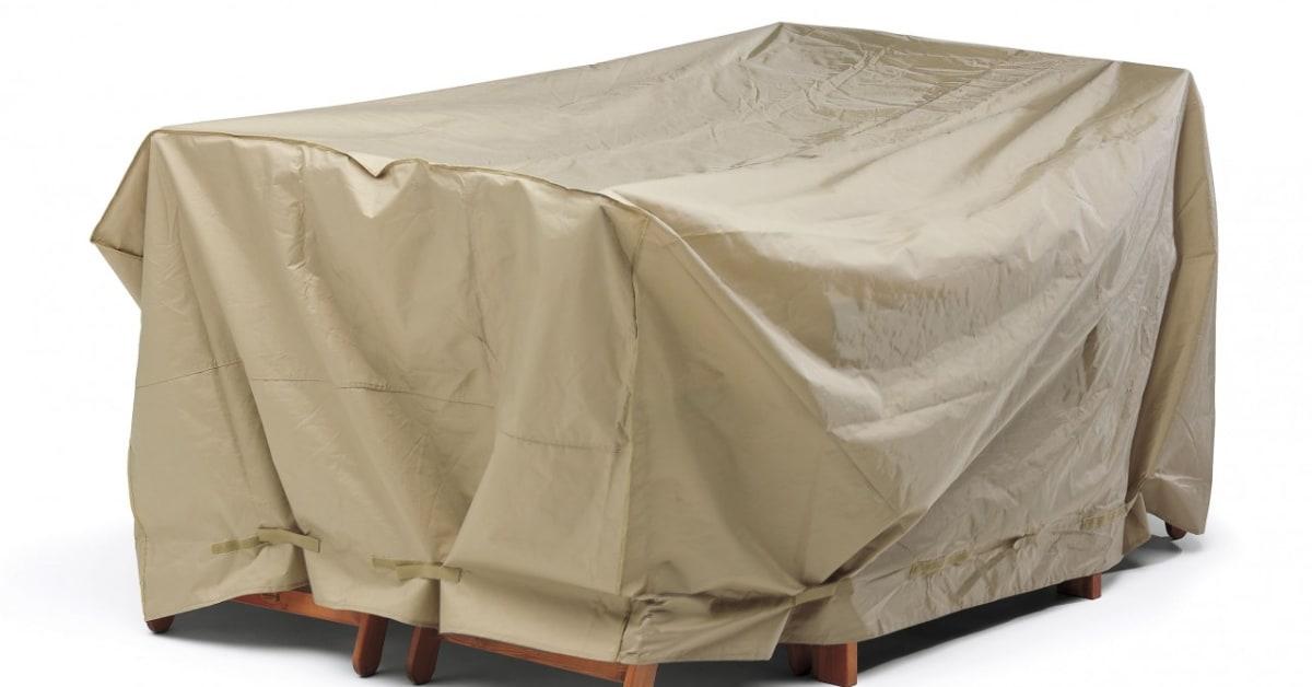 Regnskydd För Bord + 4 Stolar I Beige Polyester Plast Praktiskt Helgbutiken Se