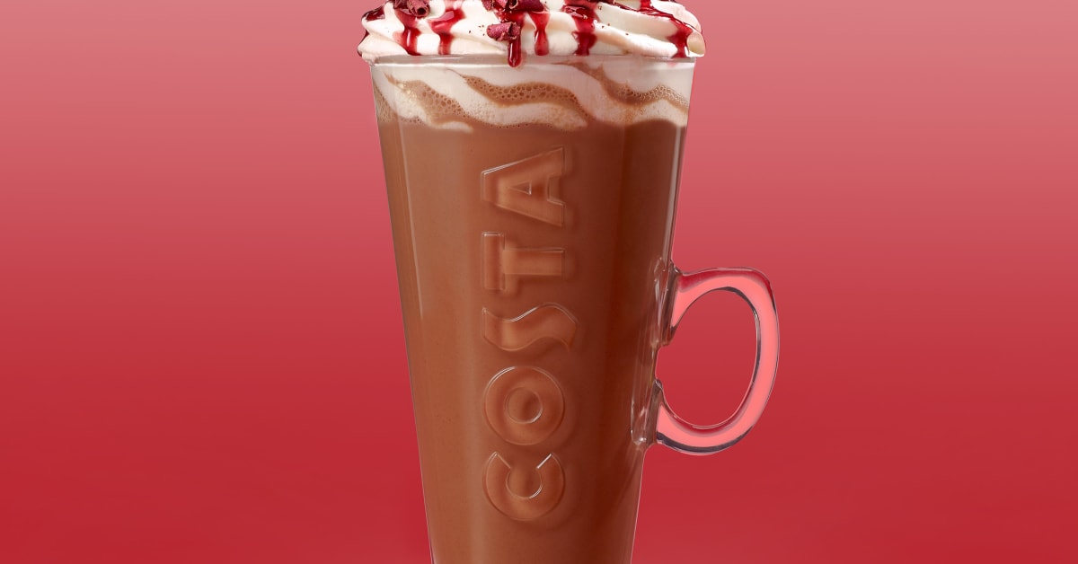 Costa Coffee Black Forest Hot Chocolate Costa Coffee