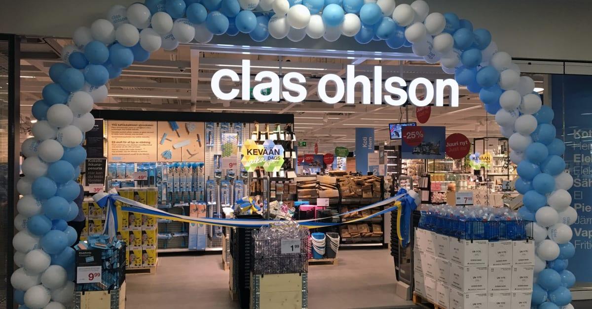 Clas Ohlson kasvaa ja tekee hyvää tulosta 37 myymälä avattu Ainoaan Clas Ohlson Oy