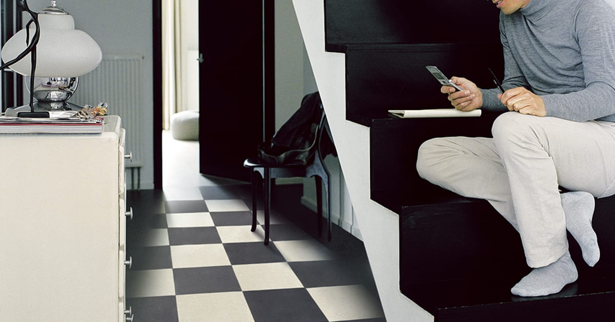 Marmoleum Click rutigt Linoleumgolv - Forbo Flooring AB