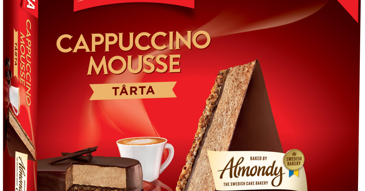 Gevalia Cappuccinomoussetårta, 400g - Almondy AB Almondy Ab