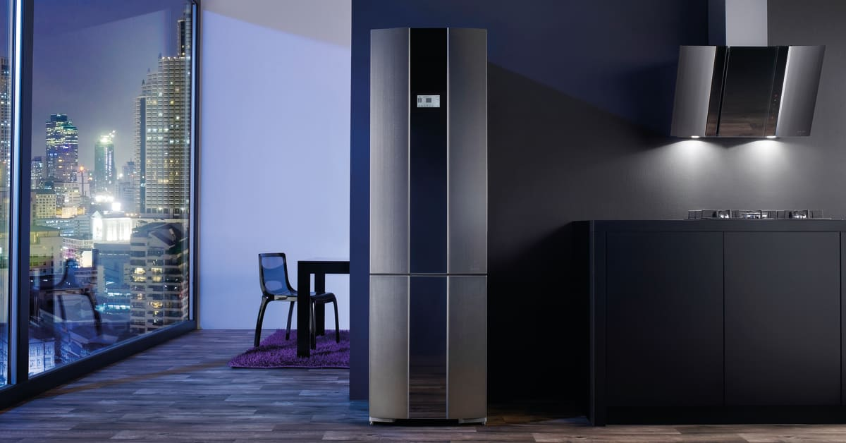 gorenje pininfarina steel k leskab kogeplade og emh tte. Black Bedroom Furniture Sets. Home Design Ideas