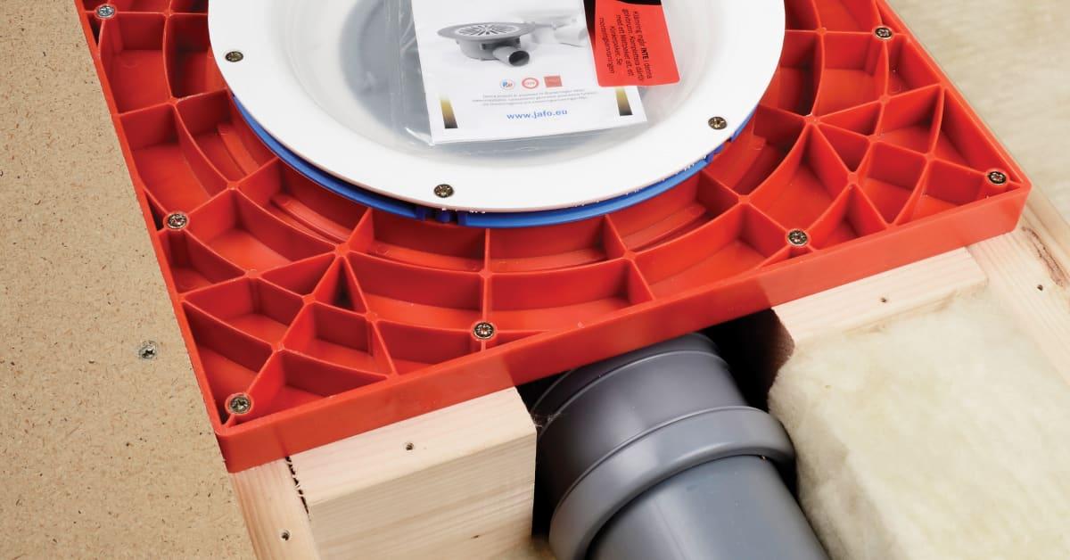 JAFO Monteringsplatta 2 för installation av golvbrunn i träbjälklag JAFO AB