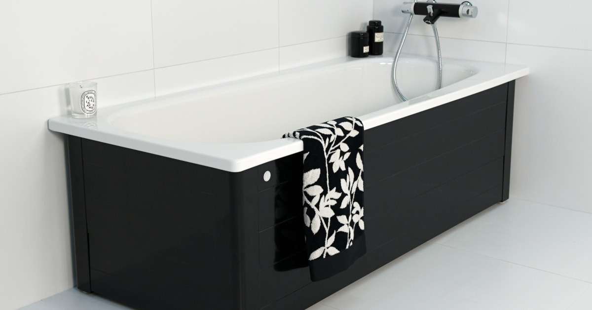 Nyhet i limited edition: svart badkar med smart vikbar front ...
