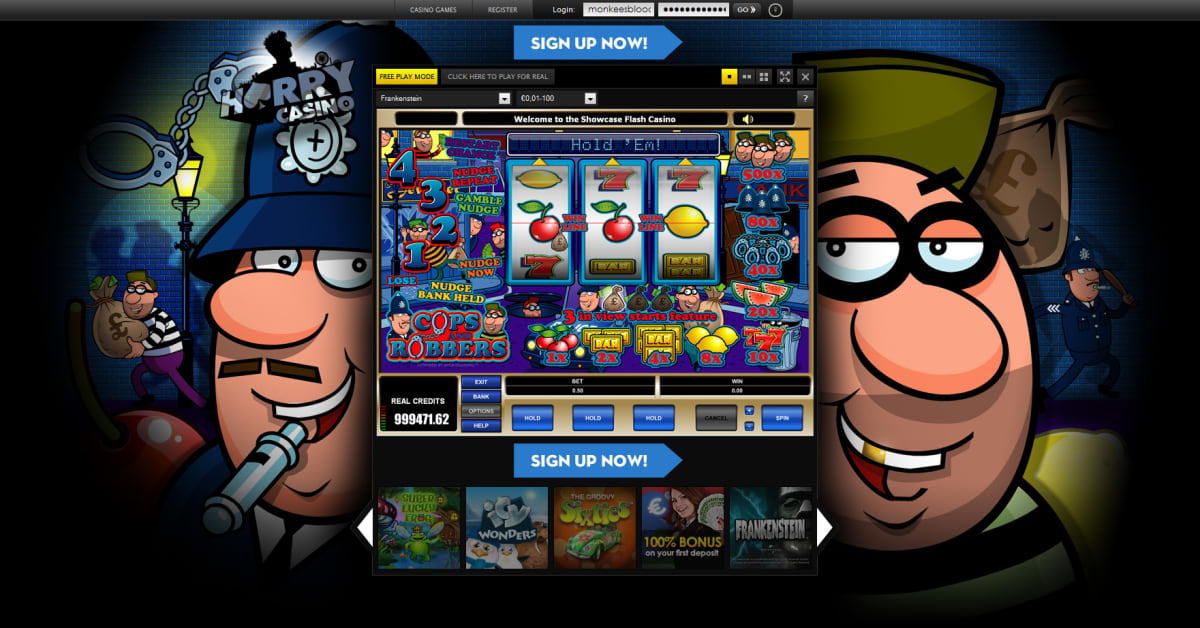online gambling casino cops and robbers slot