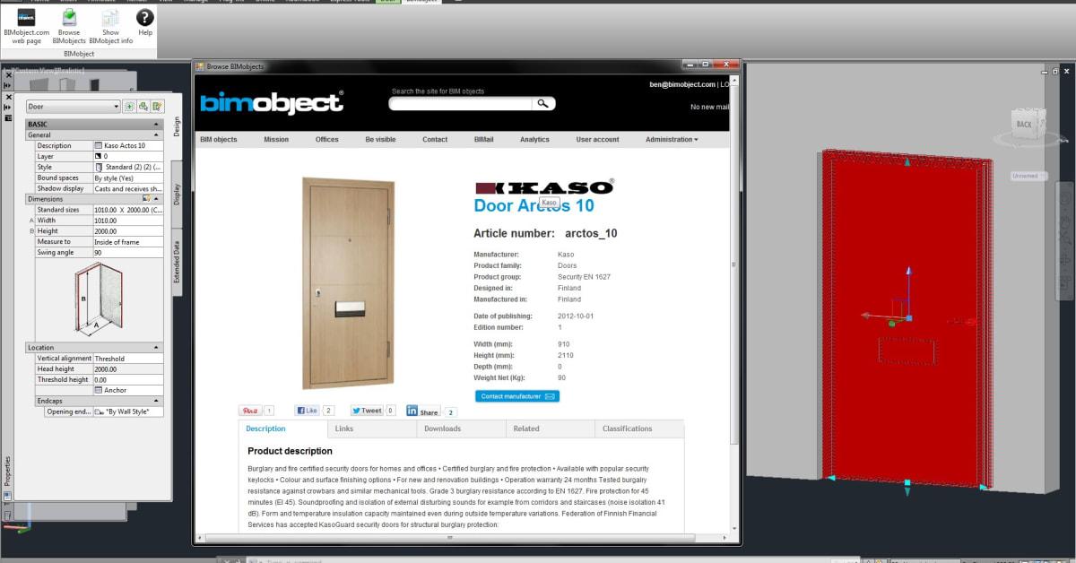 The Bimobject App For Autodesk Autocad Bimobject Ab