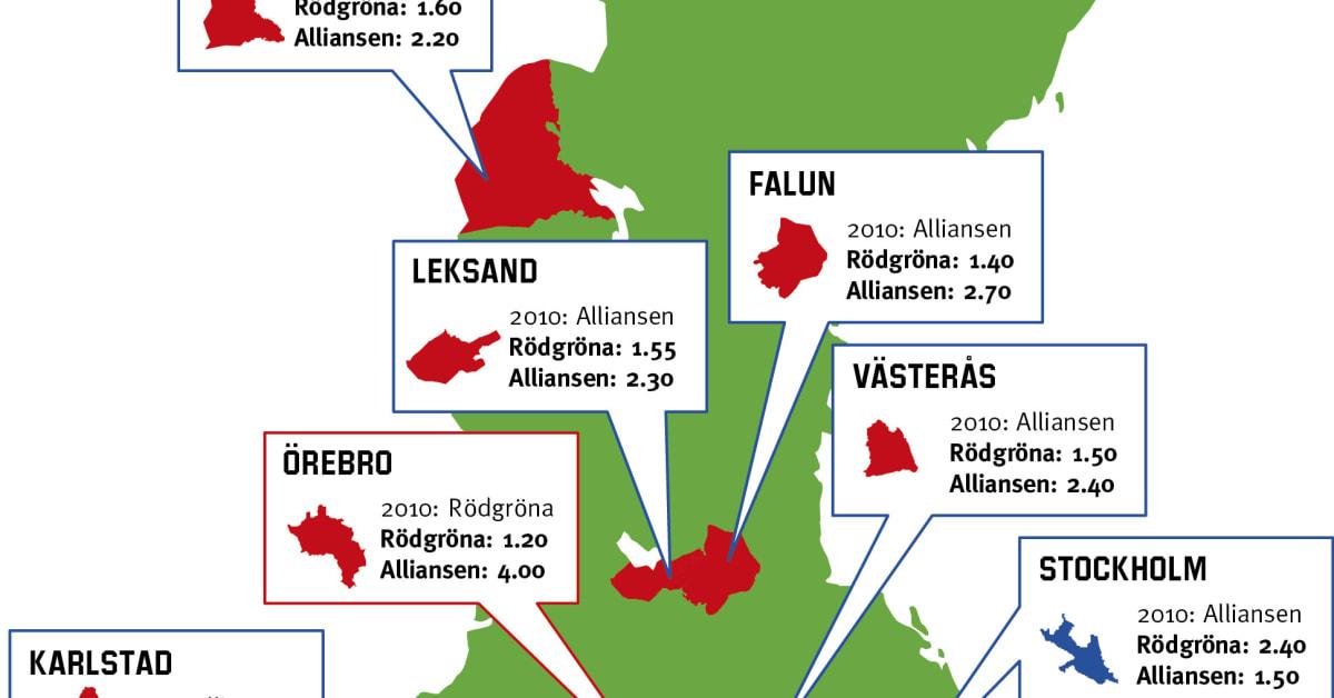 25 största städerna i sverige
