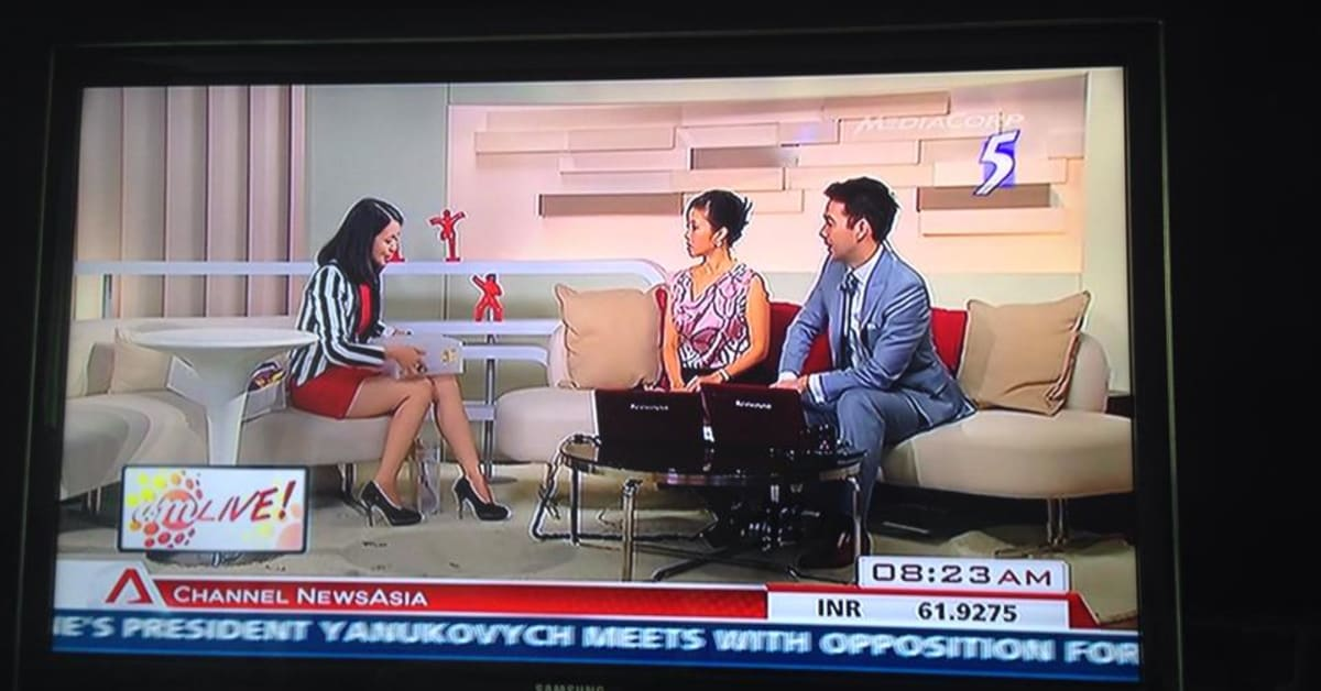 Edits Inc interviewed on AM Live! at Channel NewsAsia, 24
