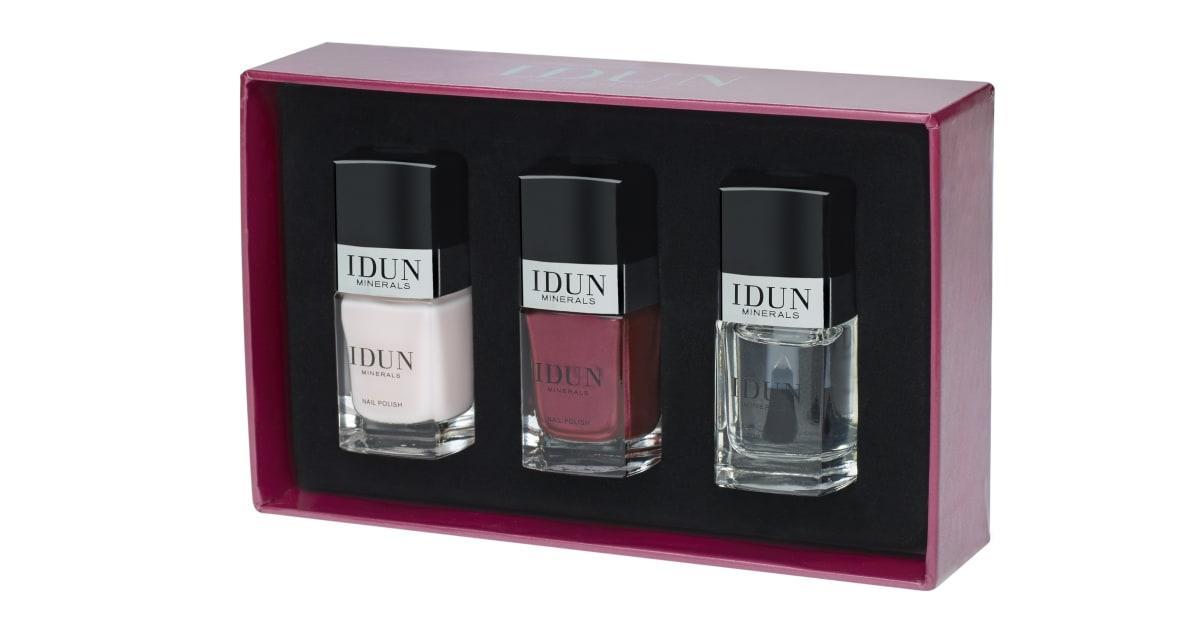 IDUN Minerals Jul 2016. Vacker ask med nagellack i två klassiska ...