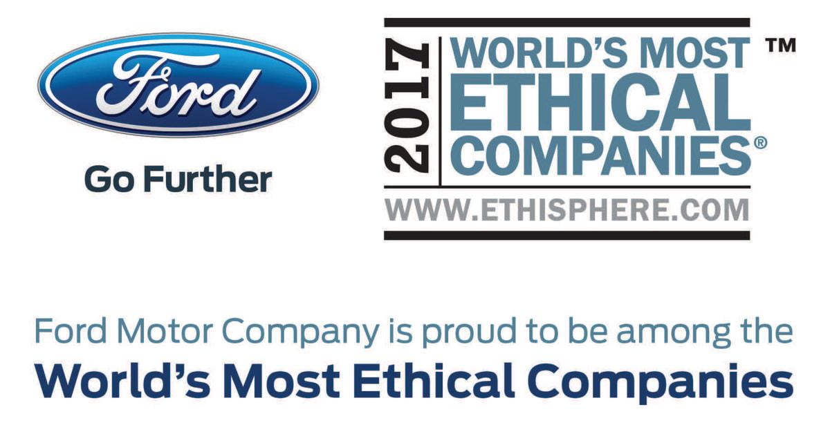 Ford ett av v rldens mest etiska f retag f r ttonde ret Ford motor company press release