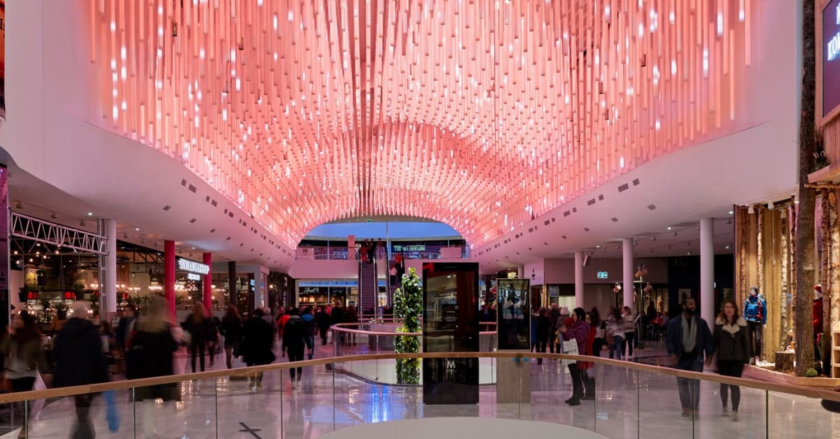 Nordic Lighting Design Delights Shoppers At Mall Of