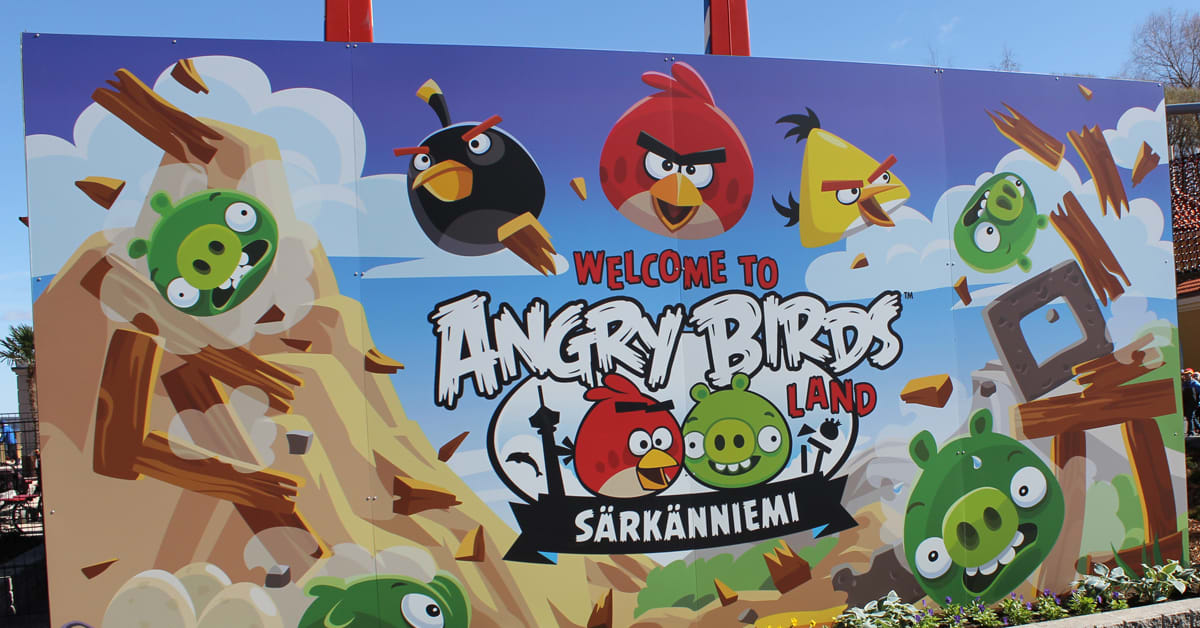 angry birds land opens at s rk nniemi theme park visit finland. Black Bedroom Furniture Sets. Home Design Ideas
