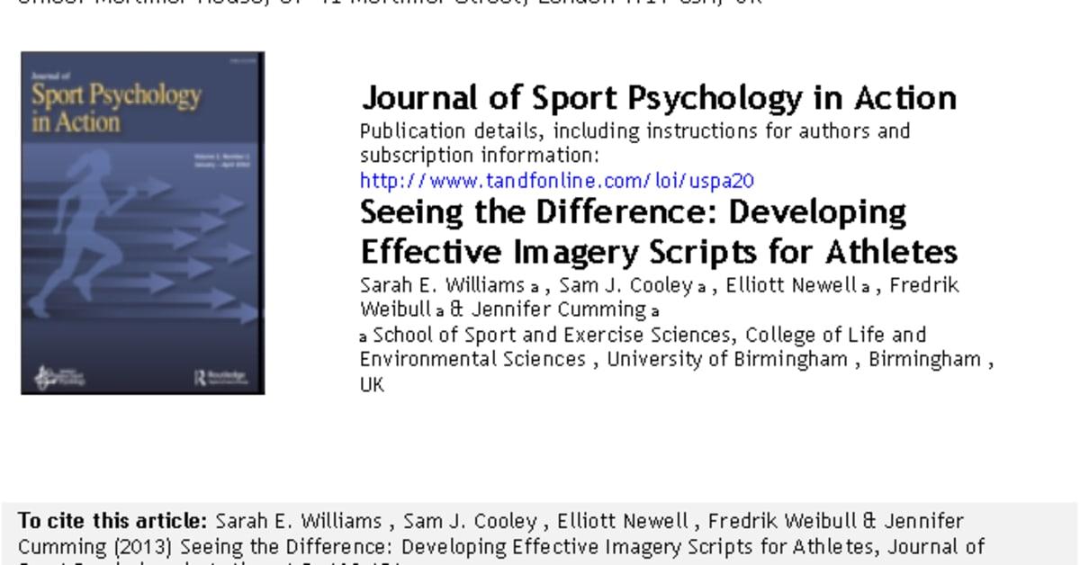 applied sport psychology williams pdf