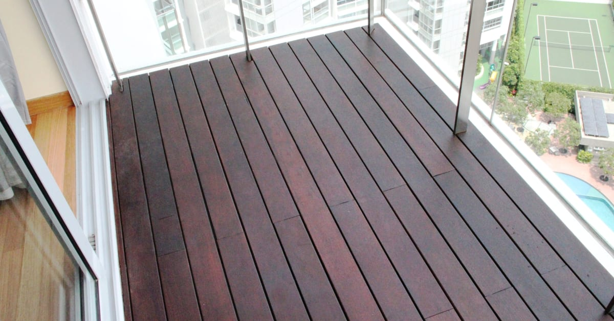 Completed Decking Project By Evorich Iron Wood Decking