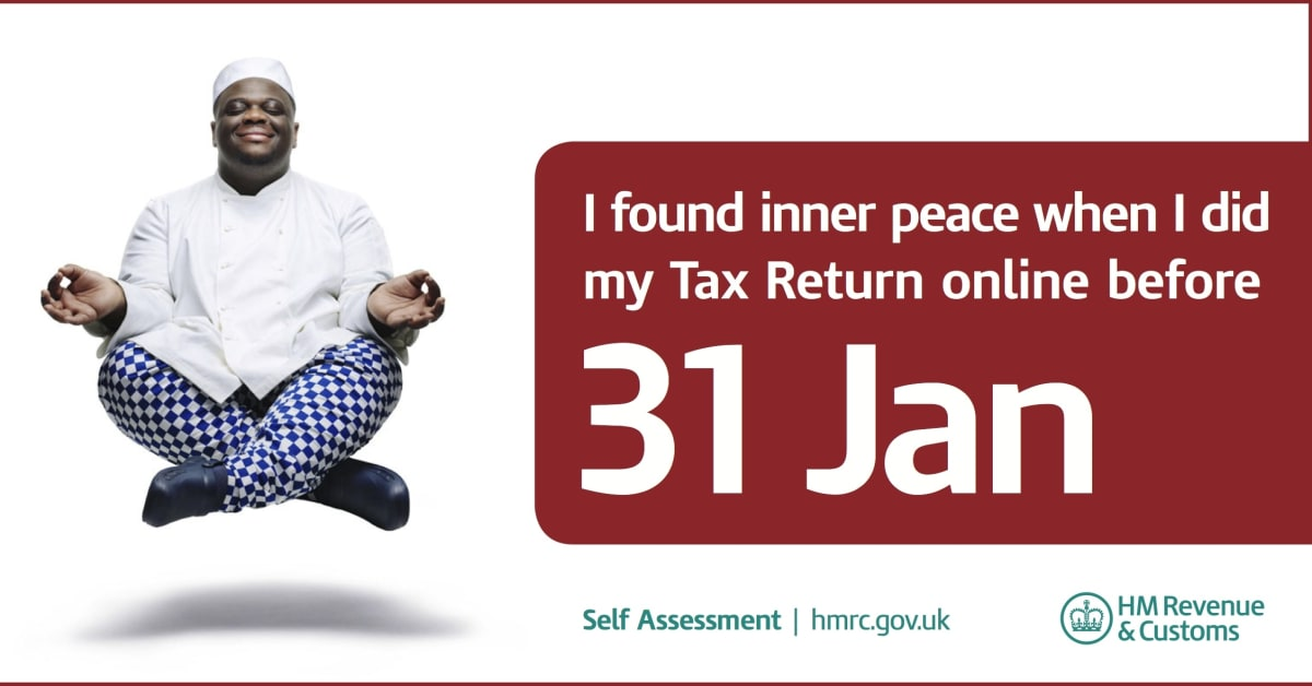 Resolve to find inner peace this january file your tax return now hm revenue customs hmrc - Hm revenue office address ...