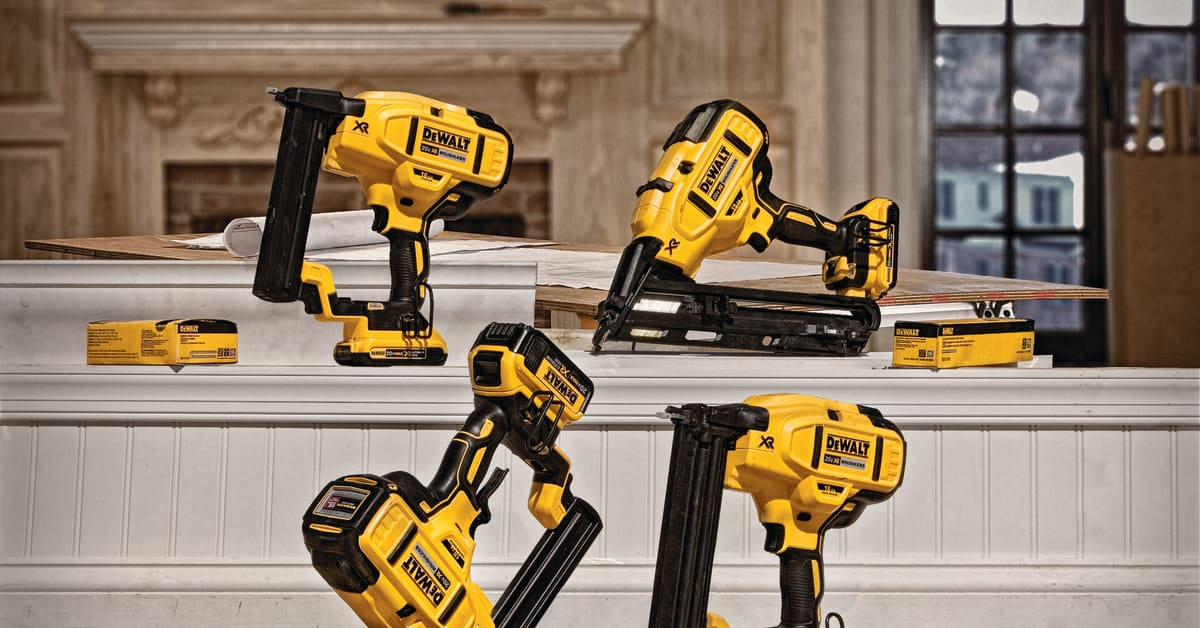 Dewalt 174 Announces New Cordless Nailer Lineup Dewalt Usa