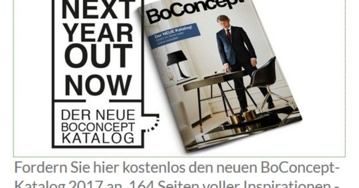 boconcept new in der neue katalog 2017 frank michael preuss redaktionsb ro f r bild und text. Black Bedroom Furniture Sets. Home Design Ideas