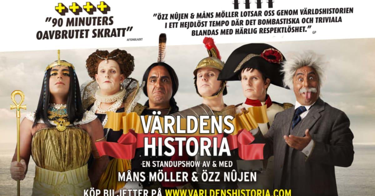 """Föreställningen """"Världens Historia"""" med Özz Nûjen och Måns Möller fortsätter in i en unik femte säsong hösten 2020"""