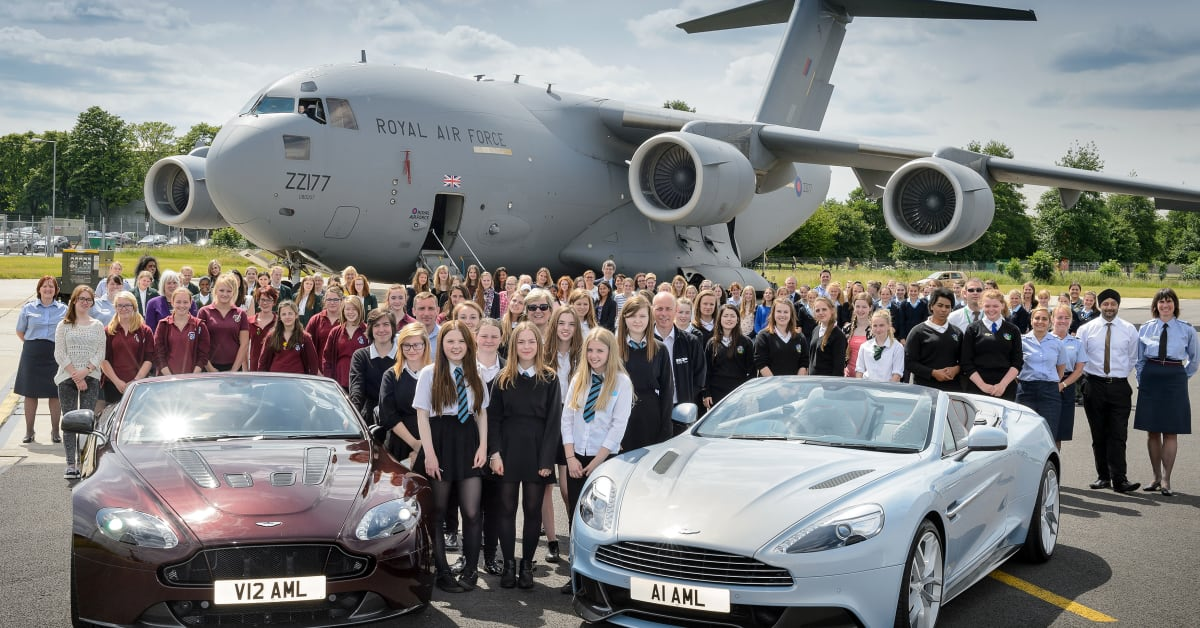 aston martin teams up with the raf to attract high-flying women