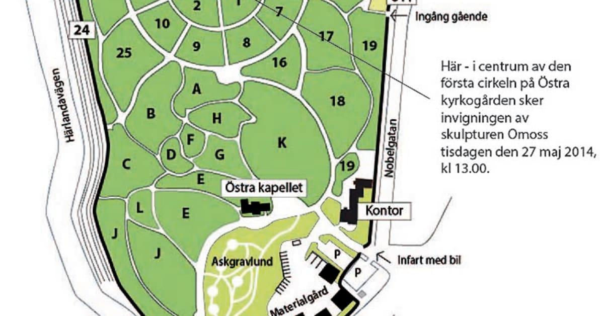 Karta Ostra Kyrkogarden Goteborgs Kyrkogardsforvaltning