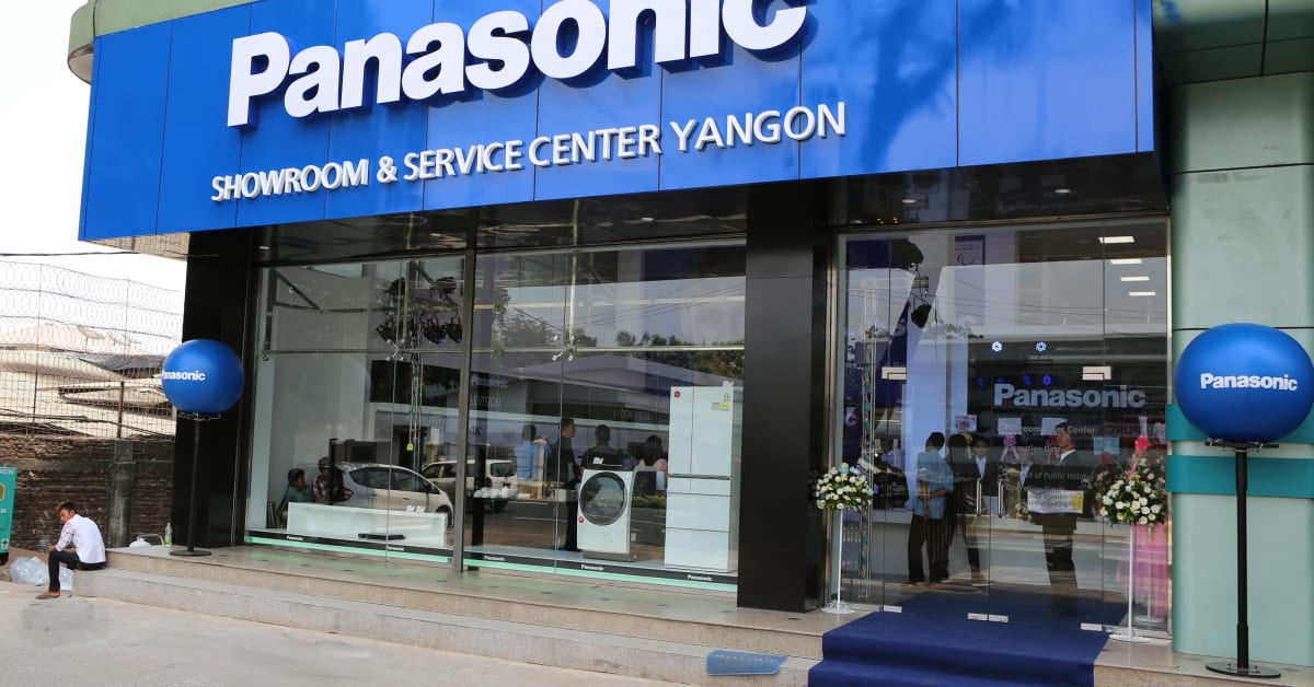 Panasonic first integrated showroom opens in yangon to for Vitamincenter b2b