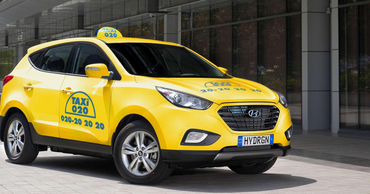 Taxi 020 köper tre bränslecellsbilar av Hyundai Hyundai Bila