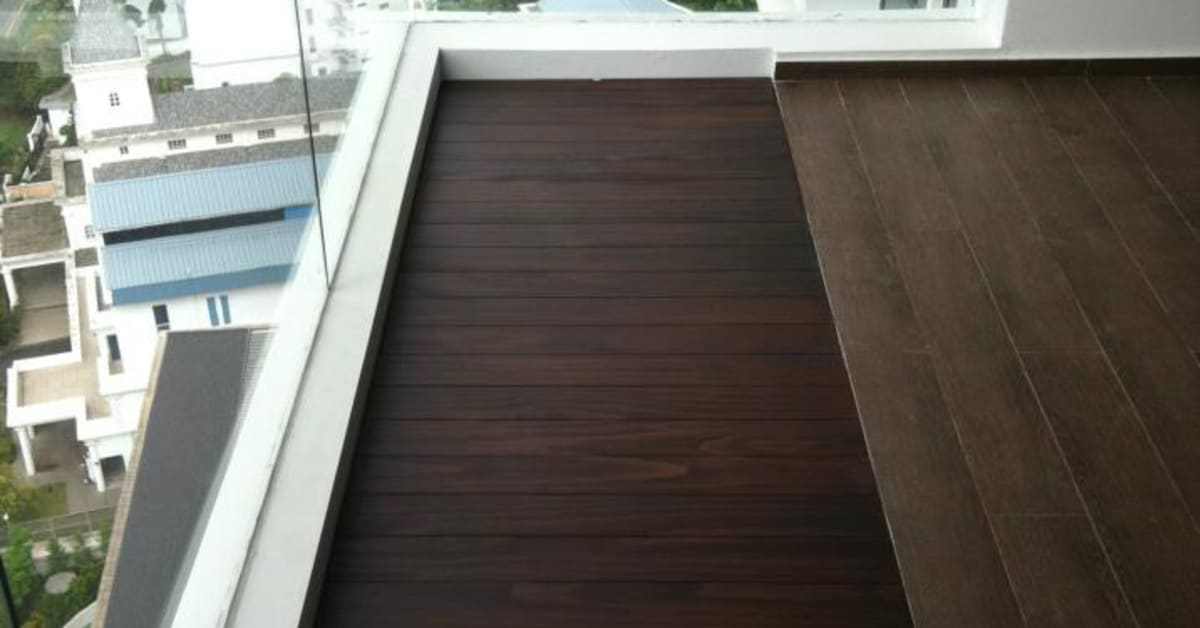 Outdoor decking to beautify your balcony evorich flooring for Apartment balcony floor covering