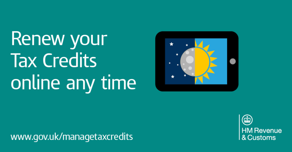 Only one week left to renew tax credits hm revenue customs hmrc - Hm revenue office address ...