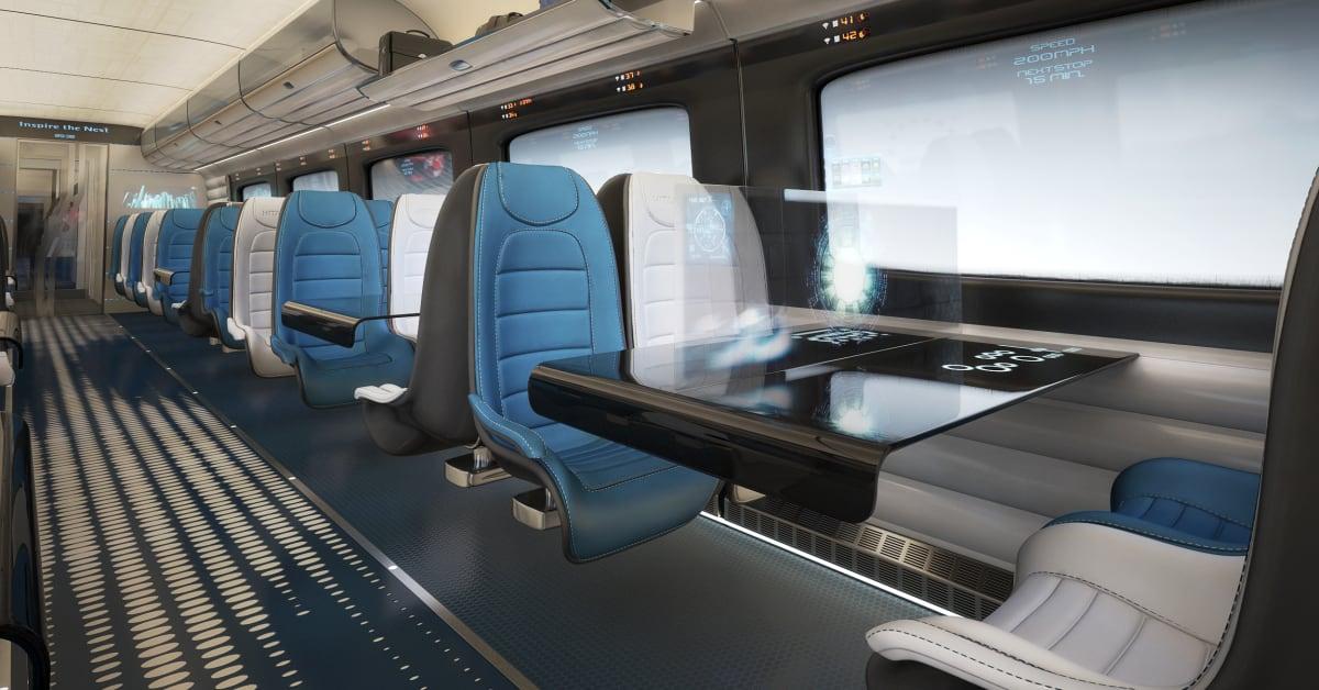 Futuristic Train Interior Hitachi Rail Europe de...