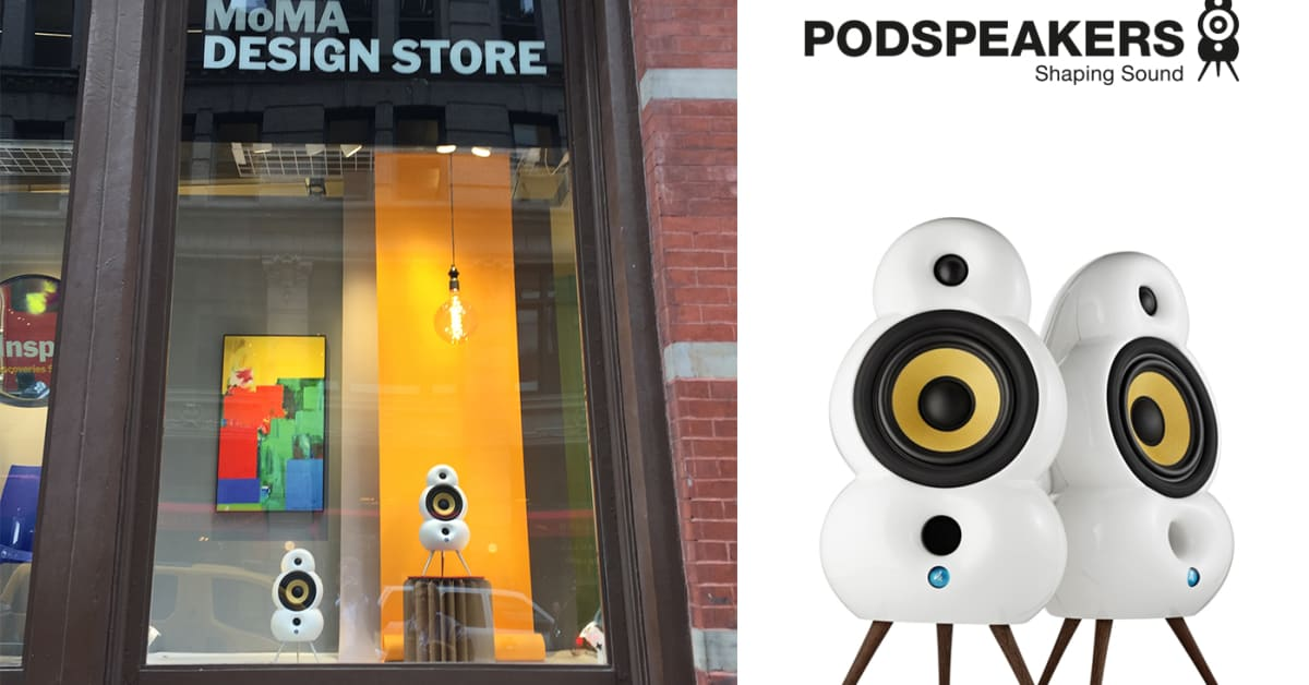 podspeakers displayed in moma design stores in new york eet group a s. Black Bedroom Furniture Sets. Home Design Ideas