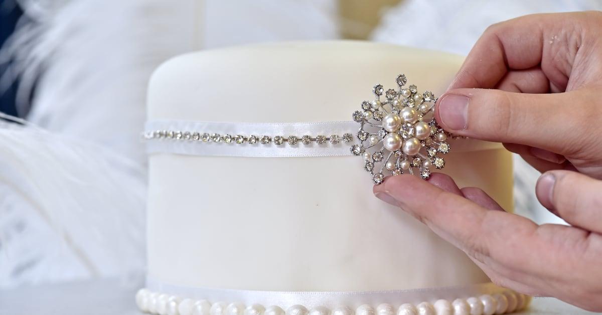 Costa Wedding Cake Top Tier Finishing Touches shot
