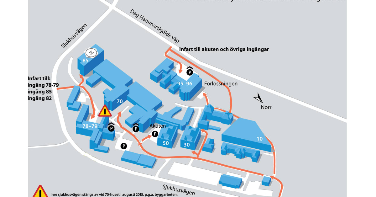 Akademiska Sjukhuset Stangs For Genomfartstrafik Region Uppsala
