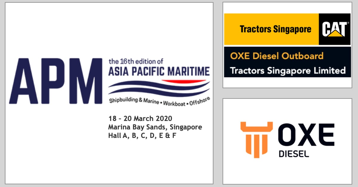OXE Diesel displayed at APM by Tractors Singapore 18 to 20