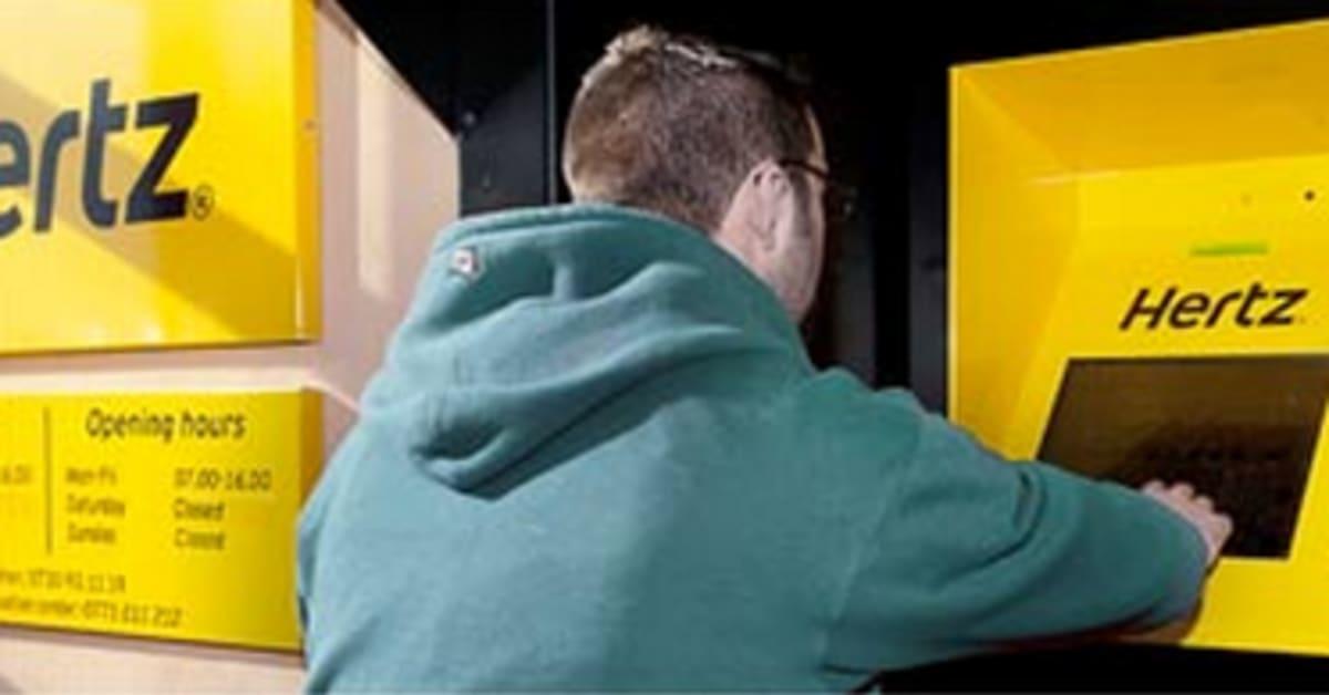 Fler hyr bil via Hertz självbetjäningskiosker Hertz