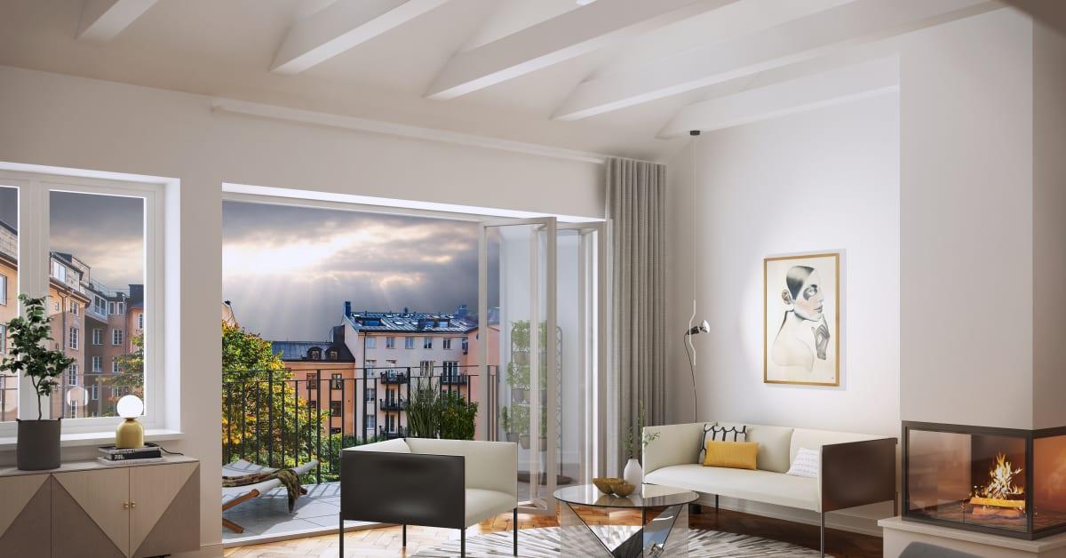 Vindsvåning i brahe suites till salu   alexander white
