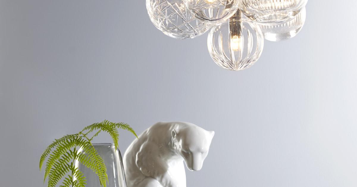 Krystallkule Lamper Fra Hadeland Glassverk 3 Norske