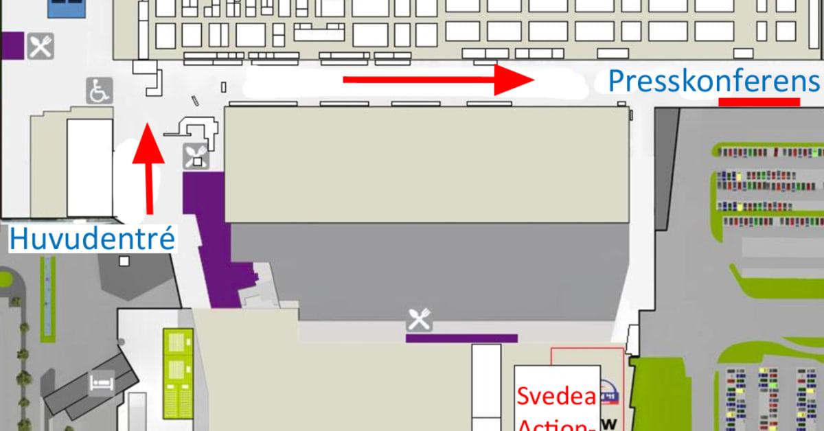 Karta Stockholmsmassan.Karta Presskonferens Stockholmsmassan