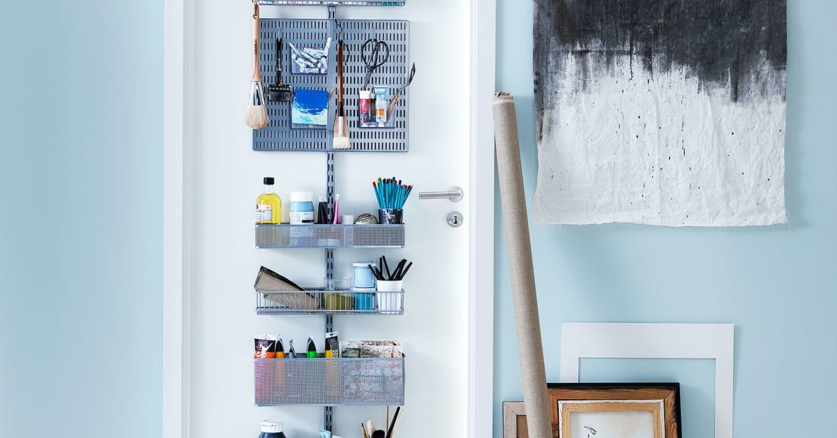 Elfa Utility White Mesh Pantry Door Wall Rack: Elfa Bokhylla. Startpaket Frvaring Elfa Basic Vit With
