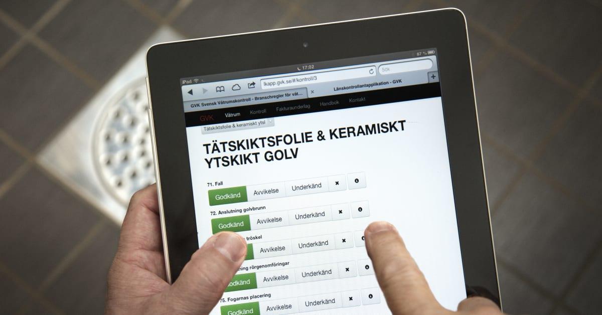Gvk svensk våtrumskontroll badrum   pressmeddelanden